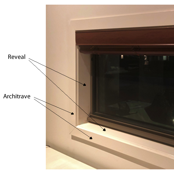 Window showing reveal and architrave