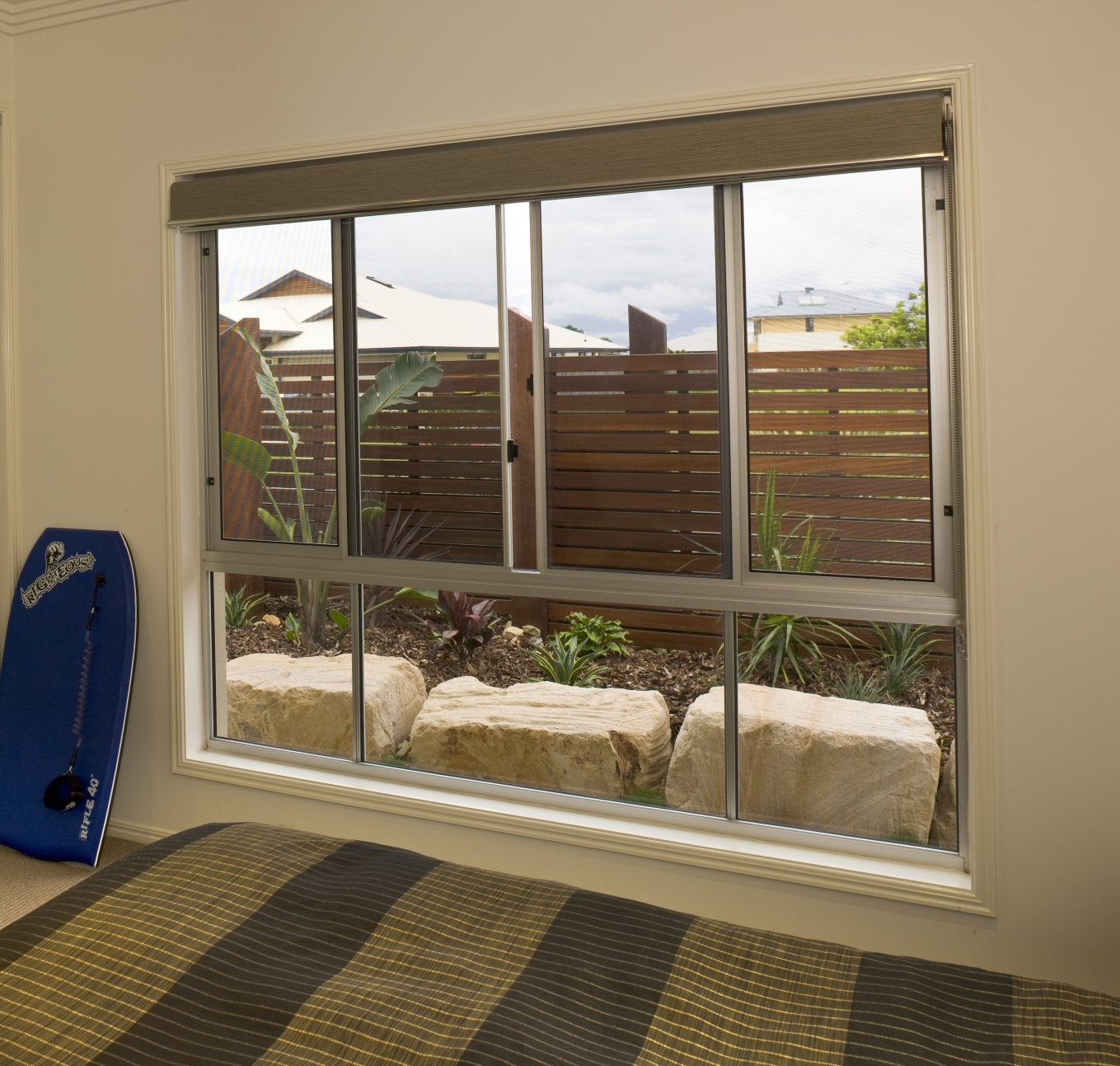 Patio window with reveals