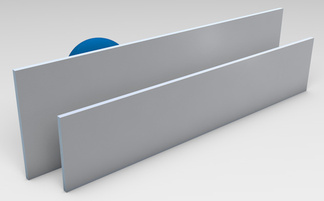 Clear Anodised Aluminium Blades