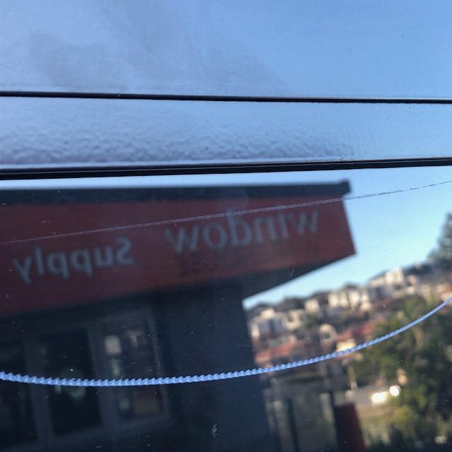 Scratch in Glass of W2