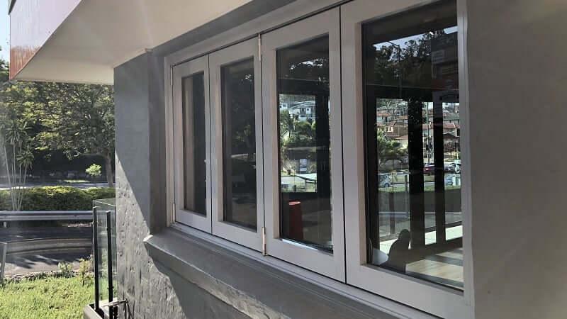 Bi-fold window closed - outside view