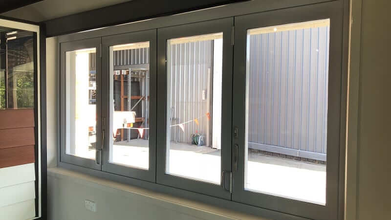 Bi-fold window closed - inside view