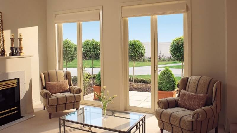 French doors with clear glass