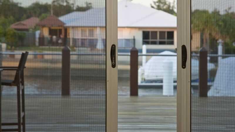Centre opening Invisi-Gard screen doors