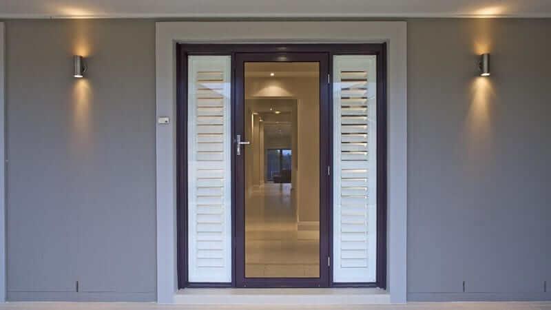 Hinged Invisi-Gard screen door